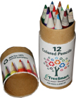 12 pc Mini Color Pencils w Tube